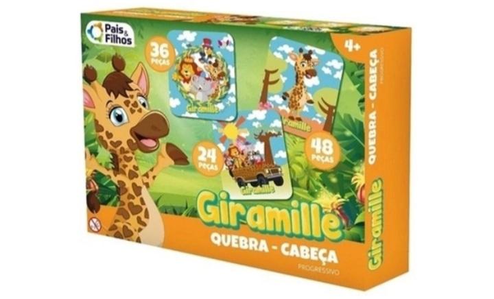 Quebra-Cabeça Progressivo Bilíngue Giramille 24/36/48 peças - Pais E Filhos