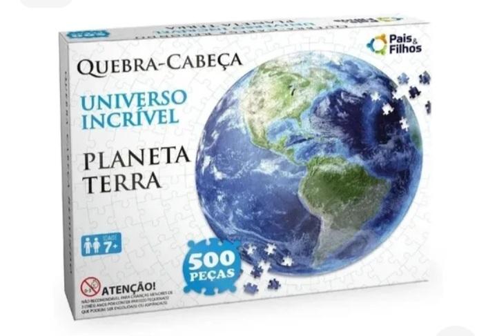 Quebra Cabeça Redondo Planeta Terra 500 peças -