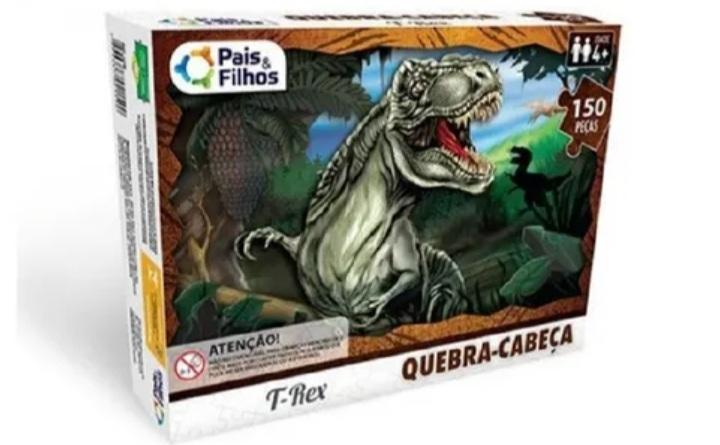 Quebra Cabeça T-Rex 150 Peças - Pais e Filhos