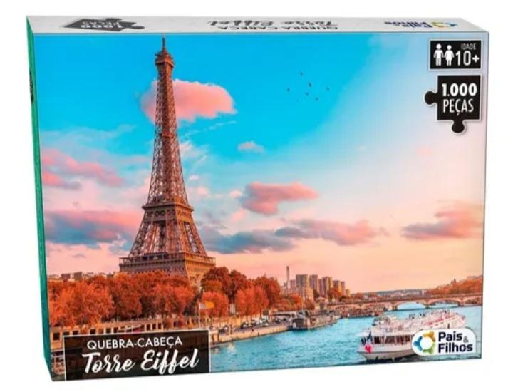 Quebra Cabeça Torre Eiffel 1000 peças - Pais e Filhos