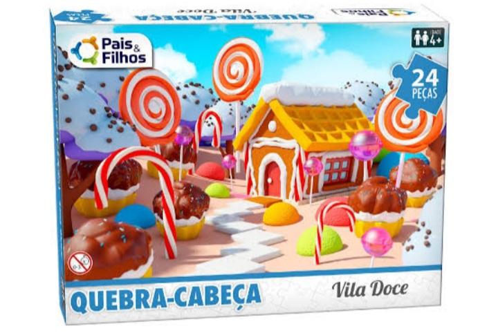 Quebra Cabeça Vila Doce 24 peças -