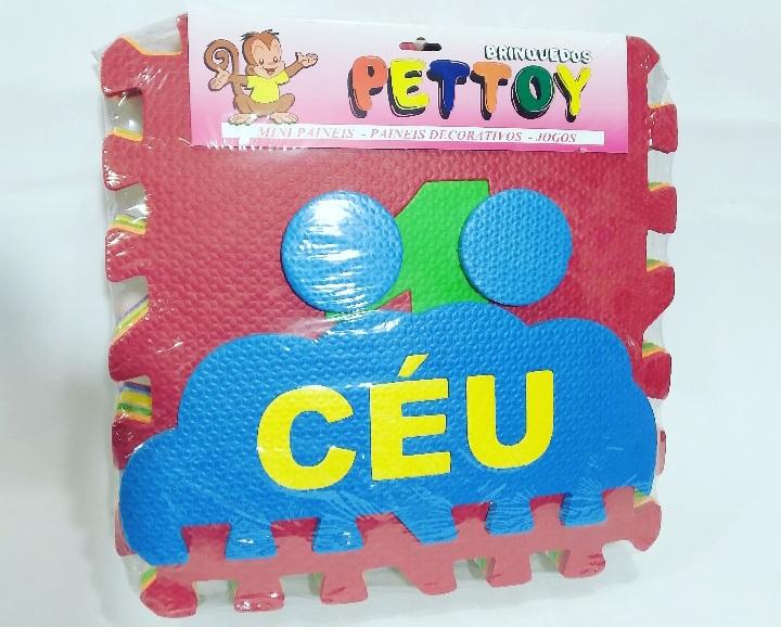 Tapete Amarelinha c/10pcs 30x30cm - Pet Toy