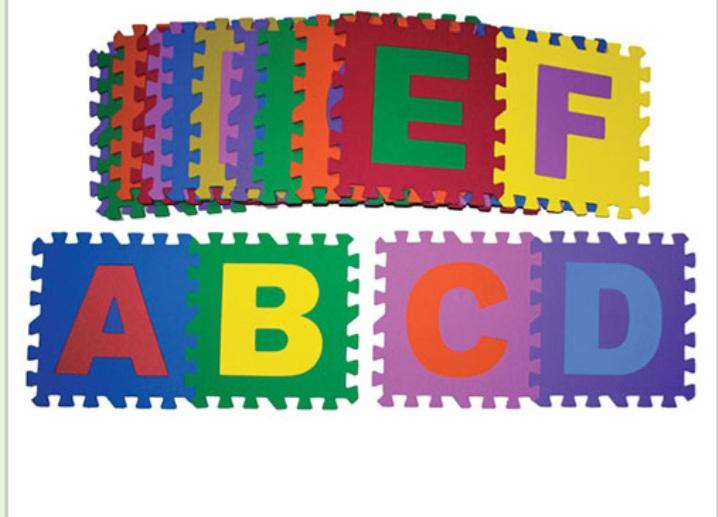 Tapete Encaixe ABC c/26pcs 30x30cm - Pet Toy