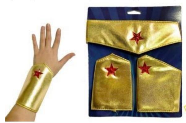 Tiara e Par Braceletes Deusa Amazona -