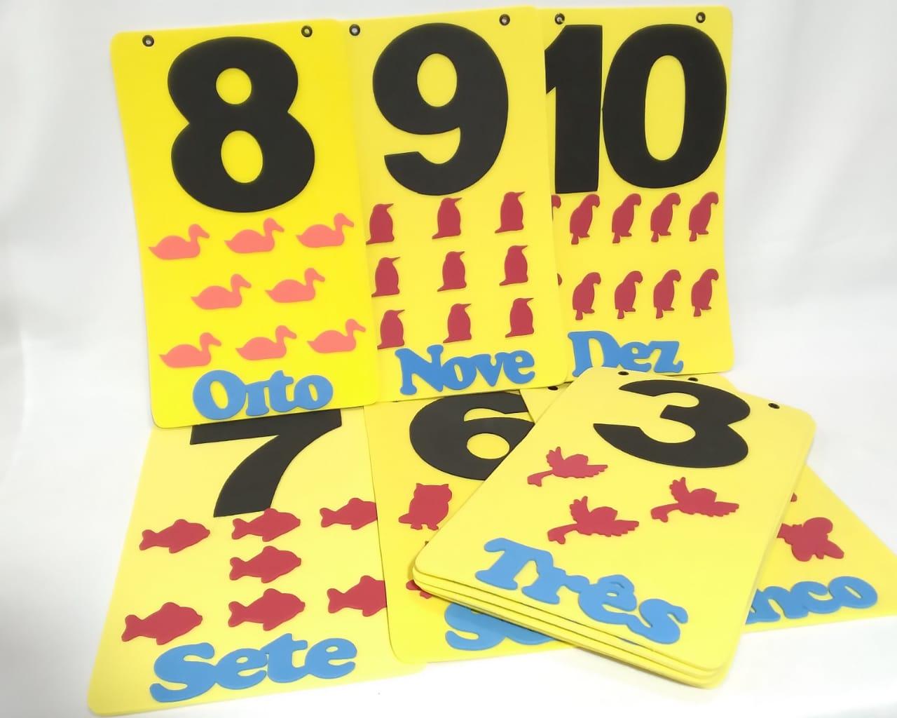 Varal Numeros c/11pcs em EVA 20x34cm - Pet Toy