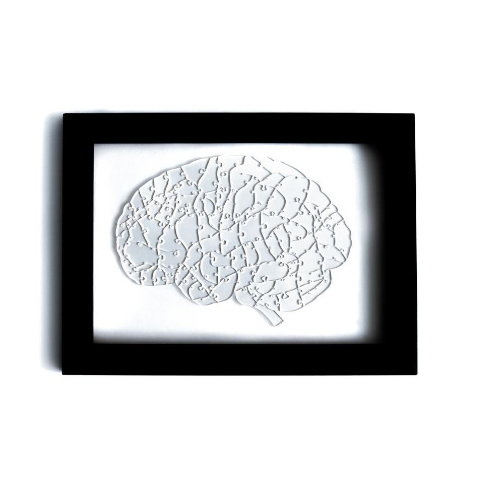 Quebra Cabeça Transparente Cérebro - Moldura Preta