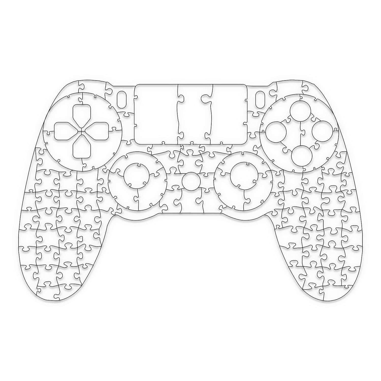 Quebra Cabeça Transparente Controle de PS4