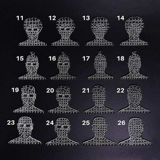 Quebra Cabeça Transparente Faces