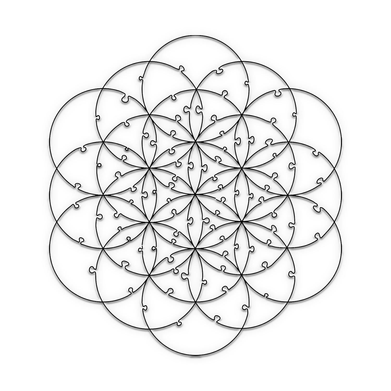 Quebra Cabeça Transparente Flor da Vida