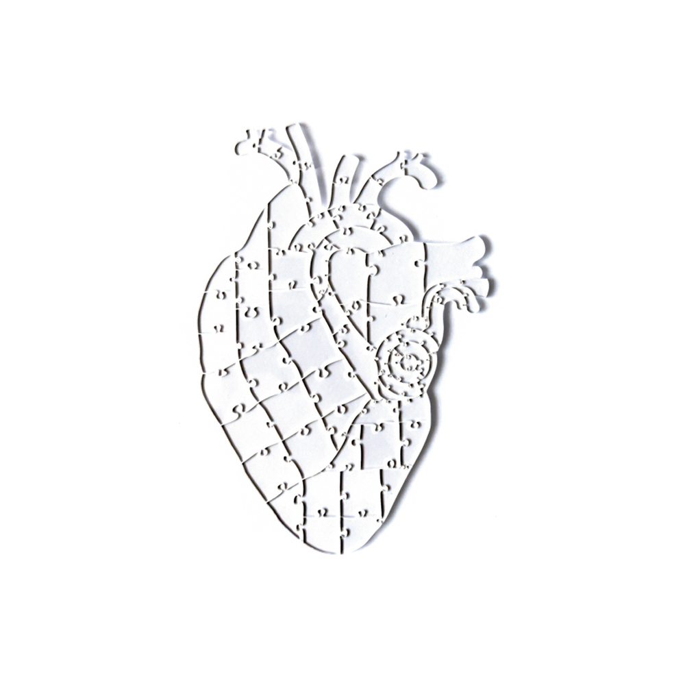 Quebra Cabeça Transparente Heart - 65 Peças