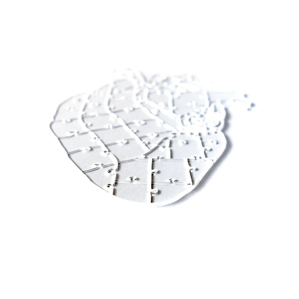 Quebra Cabeça Transparente Heart (65 peças) + Caixa