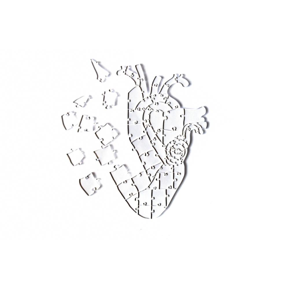 Quebra Cabeça Transparente Heart - Moldura Preta