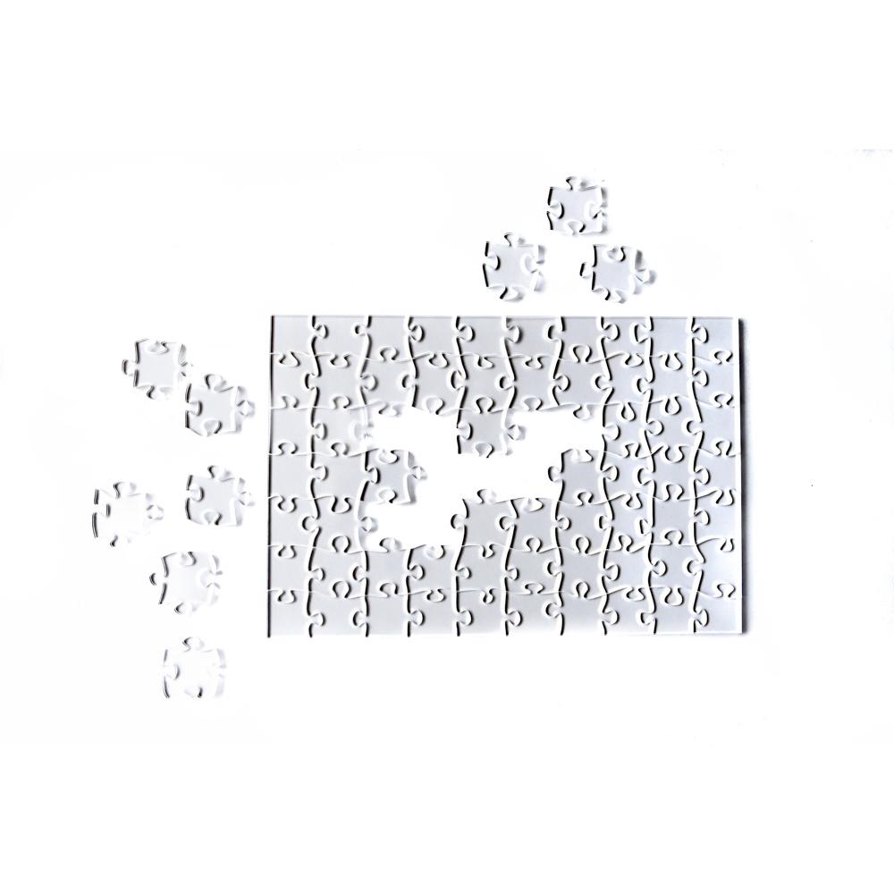 Quebra Cabeça Transparente Médio - Moldura Preta