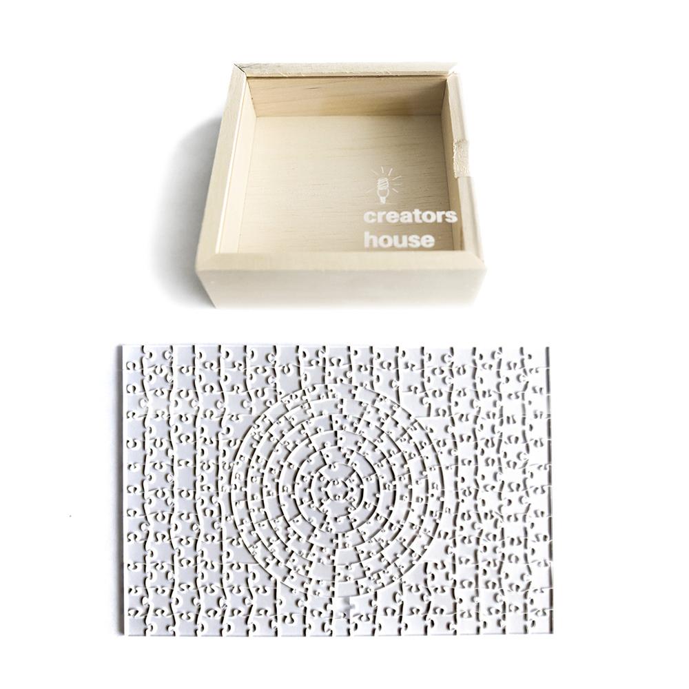 Quebra Cabeça Transparente Misto (243 Peças ) + Caixa
