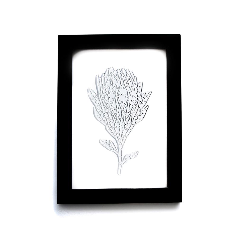Quebra Cabeça Transparente Protea - Moldura Preta