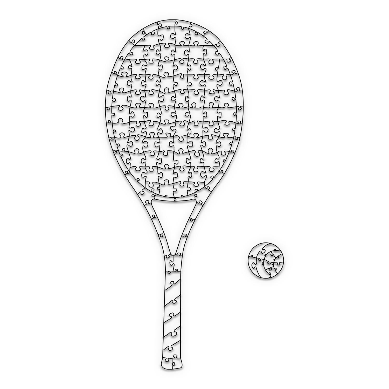 Quebra Cabeça Transparente Raquete de Tênis