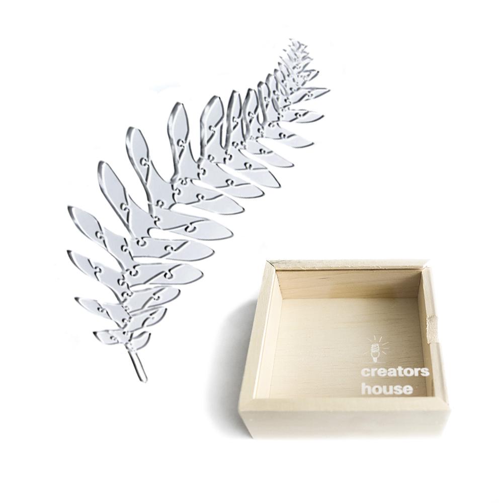 Quebra Cabeça Transparente Samambaia  (60 peças)  + Caixa