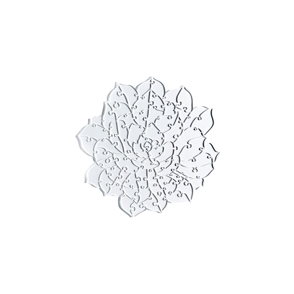 Quebra Cabeça Transparente Suculenta - 60 peças