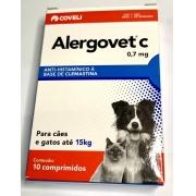 ALERGOVET C 0,7 MG COM 10 COMPRIMIDOS