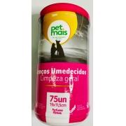 Lenços Umedecidos Petmais Fresh Pet Rosa - 75 Unidades