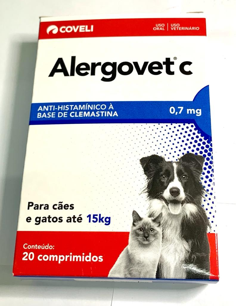 ALERGOVET C 0,7 MG COM 20 COMPRIMIDOS