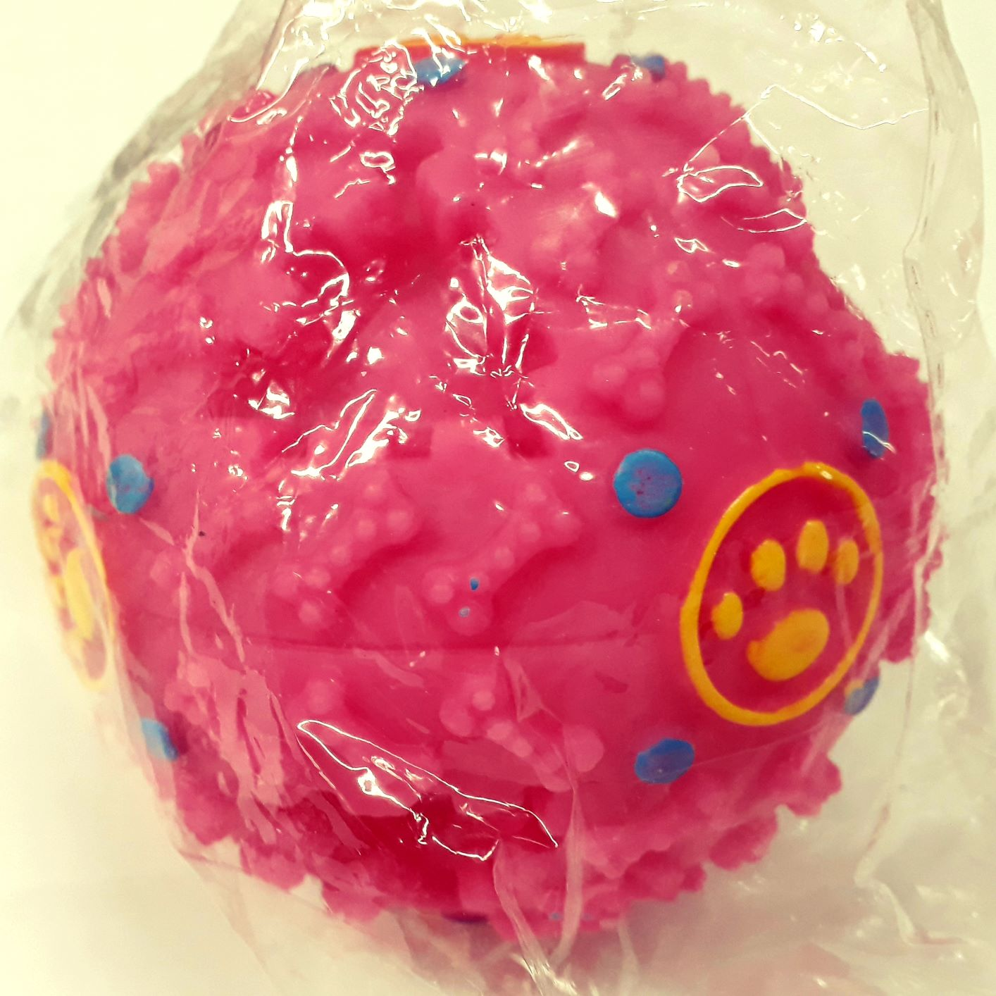 Bola Interativa Para Cães Porta Petisco Com Som Rosa