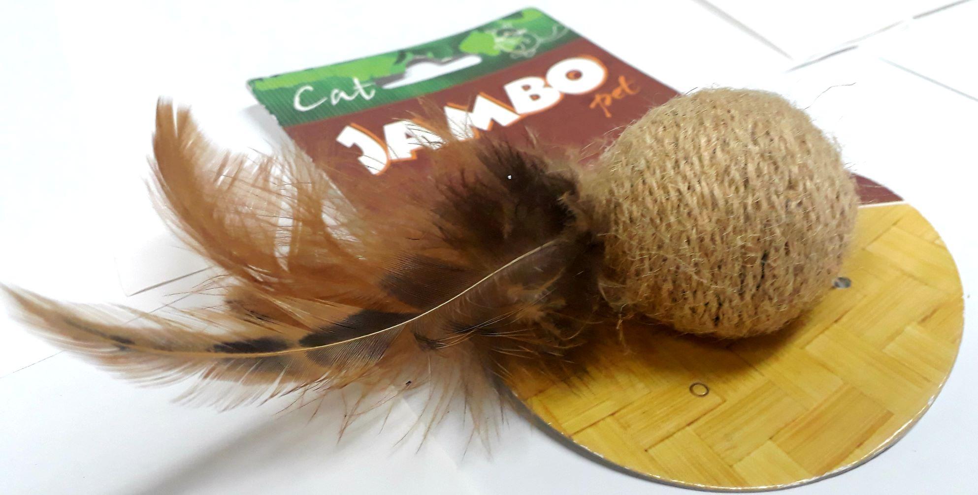 Brinquedo Bola Natural Gato Jambo