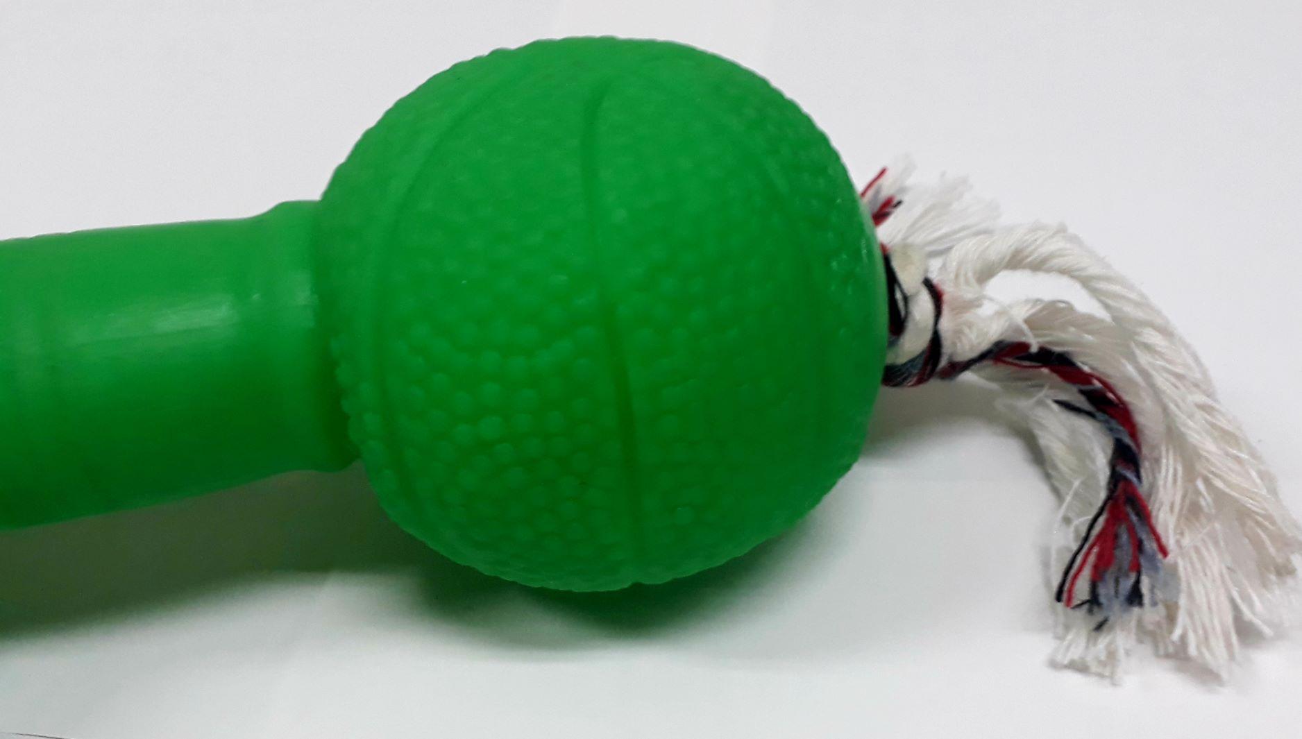 Brinquedo Halteres Grande com crivo Plastico Verde