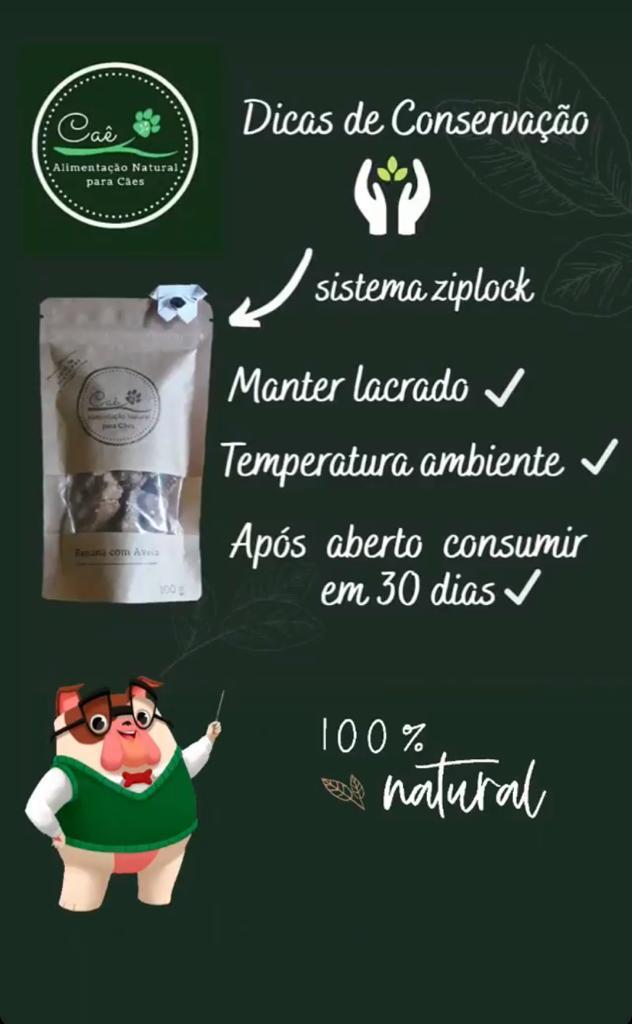 CAE BISCOITO NATURAL PARA CÃES BANANA E AVEIA