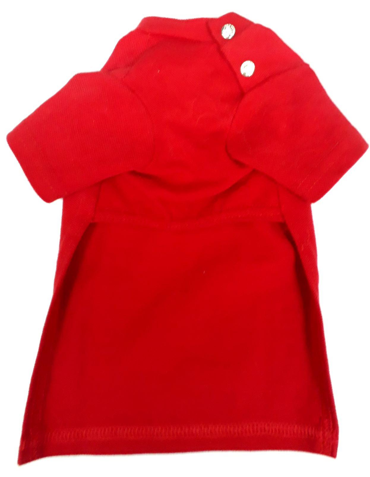 Camisa Polo Vermelha Para Cães Bichinho Chic Tam 7