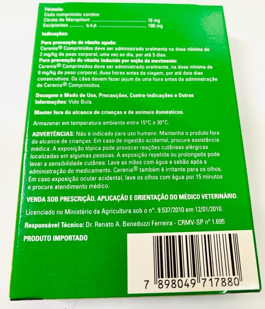 CERENIA 16 MG COM 4  COMPRIMIDOS