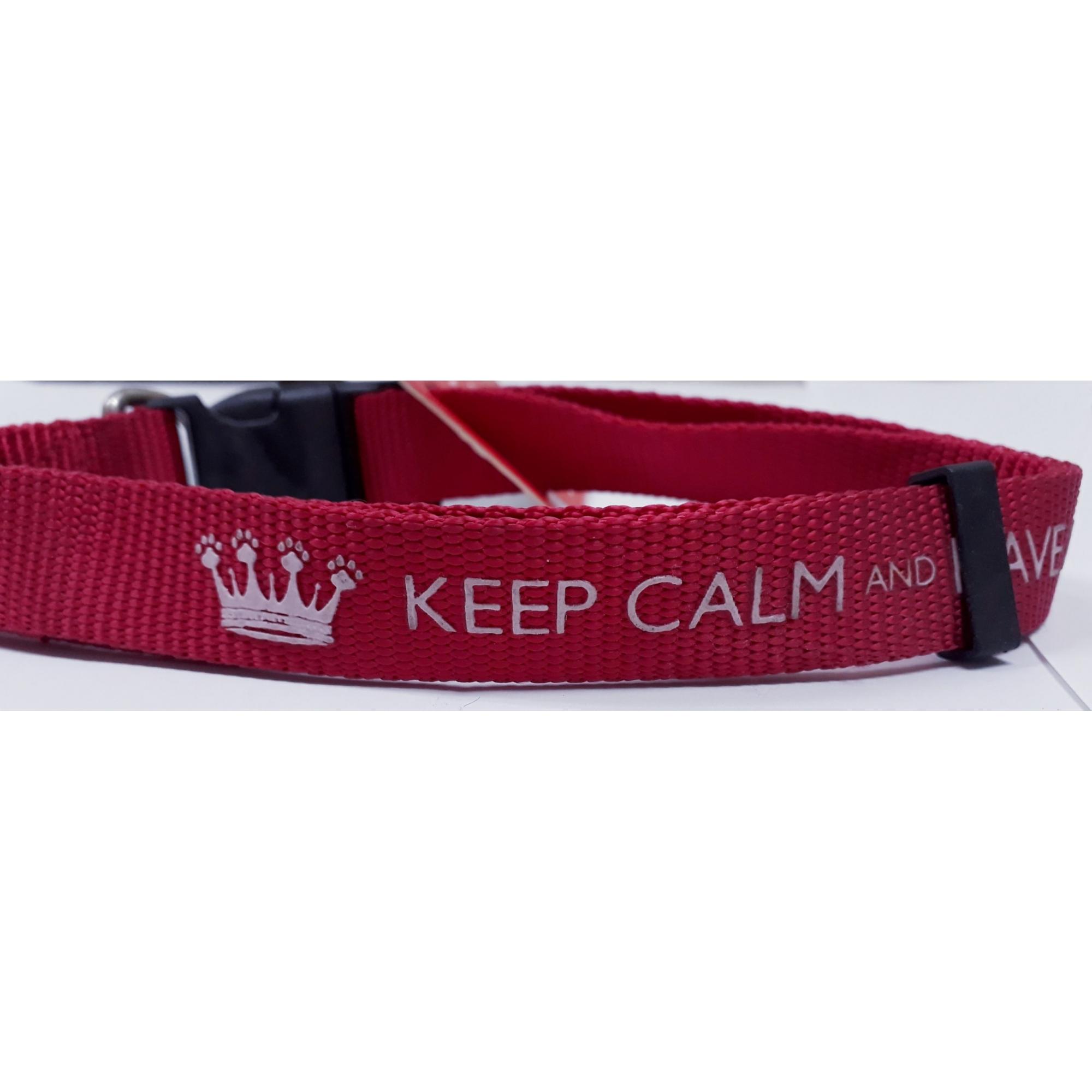 Coleira Keep Calm P