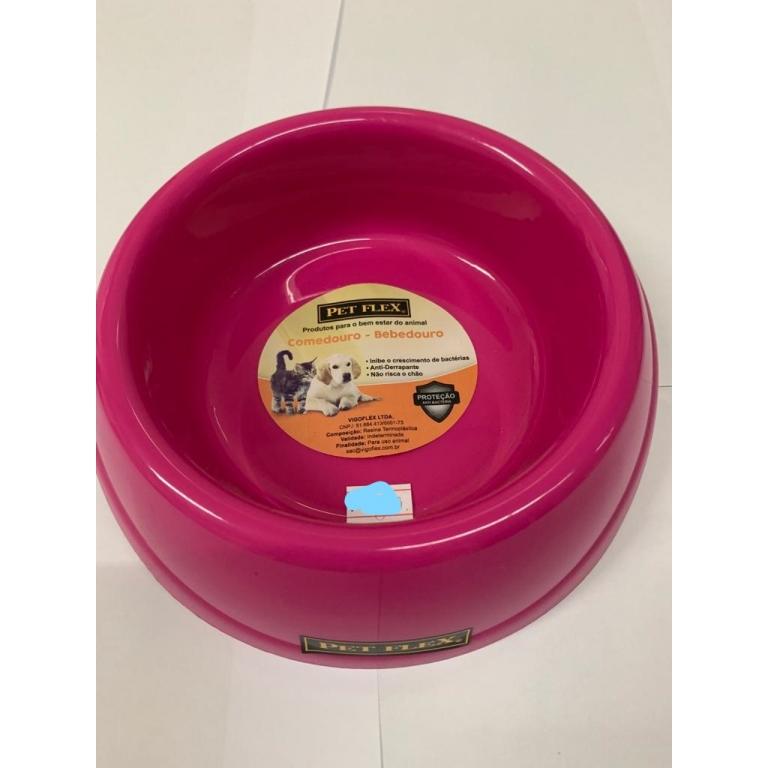 Comedouro Bistro Nº 2 Rosa 600 Ml Pet Flex