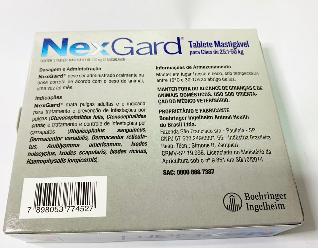 NEXGARD DE 25,1-50 KG 1 TABLETE