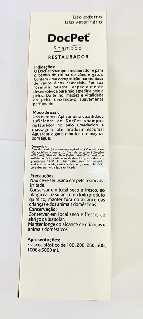 XAMPU DOCPET RESTAURADOR COVELI 200 ML