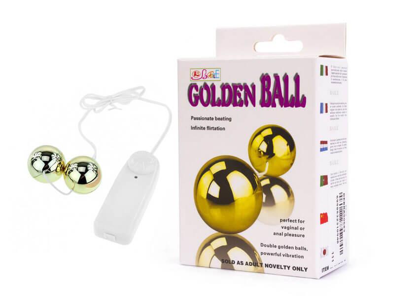 Bolas para Pompoar com Vibro Multivelocidades - Golden Ball - 5242