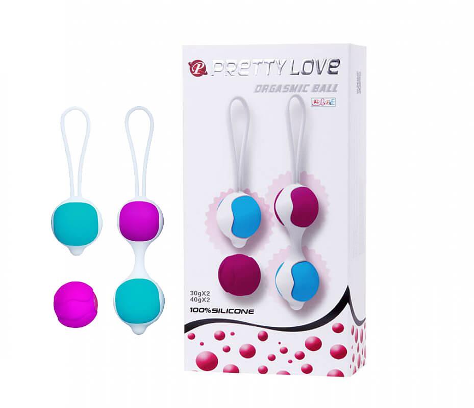 Bolas para Pompoar em Silicone com Formato Anatômico e Alça de Segurança - Orgasmic Ball - BI014265