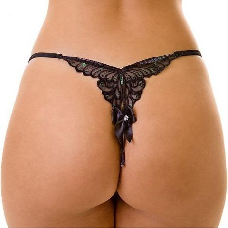 Calcinha String com Bordado de Borboleta - Butterfly - LIN47