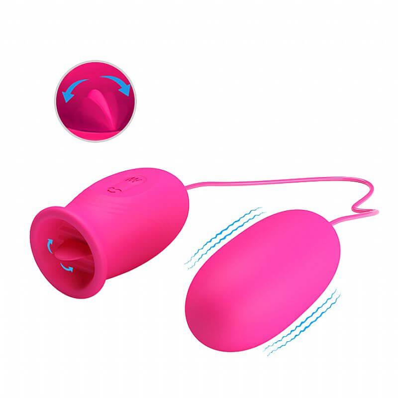 Estimulador de Clítoris com Cápsula vibratória em Soft Touch com 12 modos de Vibração e 03 funções de lambida DAISY 6207