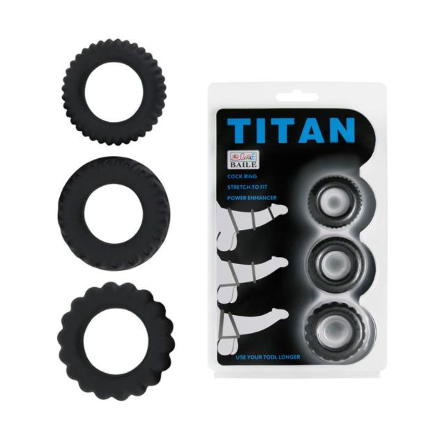 Kit Anel Peniano Titan 3 Peças - 1122