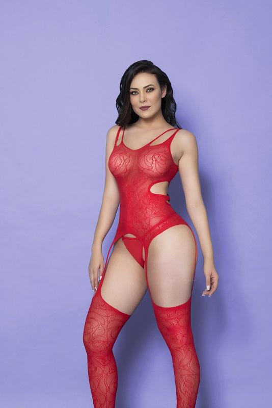 Lingerie - Bodystocking Yaffa - Y1401 Red