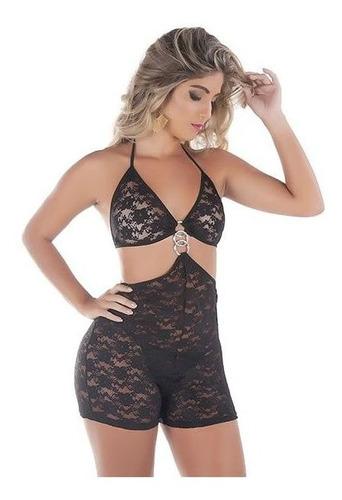 Macaquinho Frente Única Rendado - Eva Collection - LIN107
