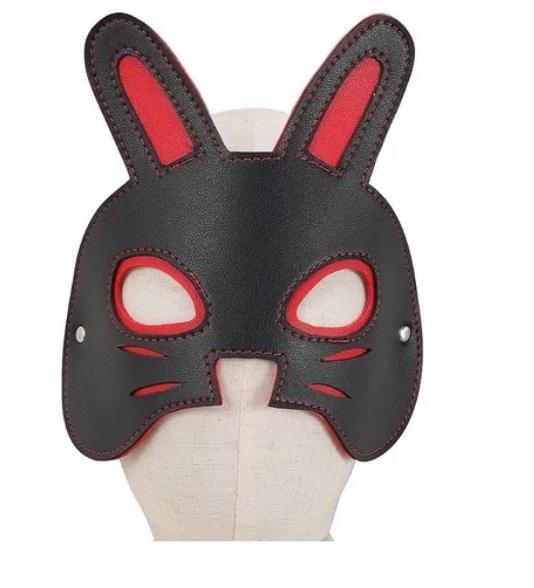Máscara Couro Sintético - Coelho - 6592
