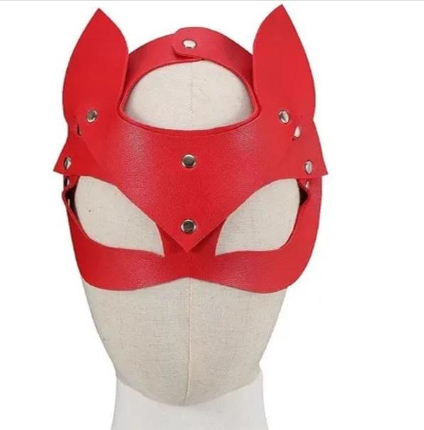 Máscara Couro Sintético - Mulher Gato - 6589