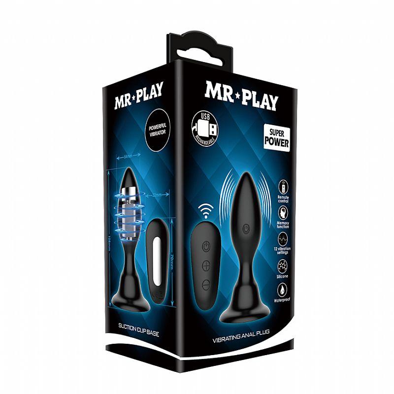 Plug Anal - MR PLAY I com Ventosa - 6331