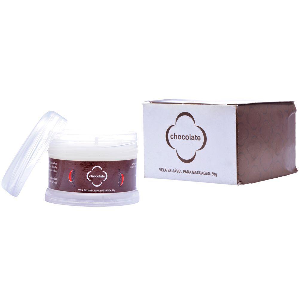 Vela Beijável para Massagem - Chillies - Chocolate