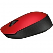 Mouse M170 Logitech Sem Fio Vermelho e Preto - 910-004941
