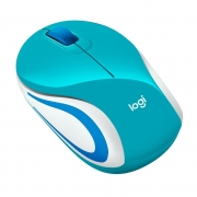 Mouse M187 Logitech, Mini, Sem Fio Verde Água 1000DPI - 910-005363