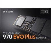 SSD Samsung 970 EVO Plus 1TB, M.2 NVMe, Leitura 3500MB/s, Gravação 3300MB/s - MZ-V7S1T0B/AM