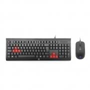 Teclado e Mouse Gamer KM100,  ABNT2, Preto -